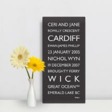 Personalised Destination Bus Blind Prints and Canvas